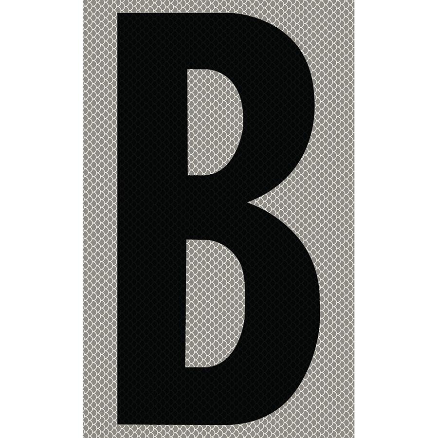 "3"" Black on Silver High Intensity Reflective ""B"""