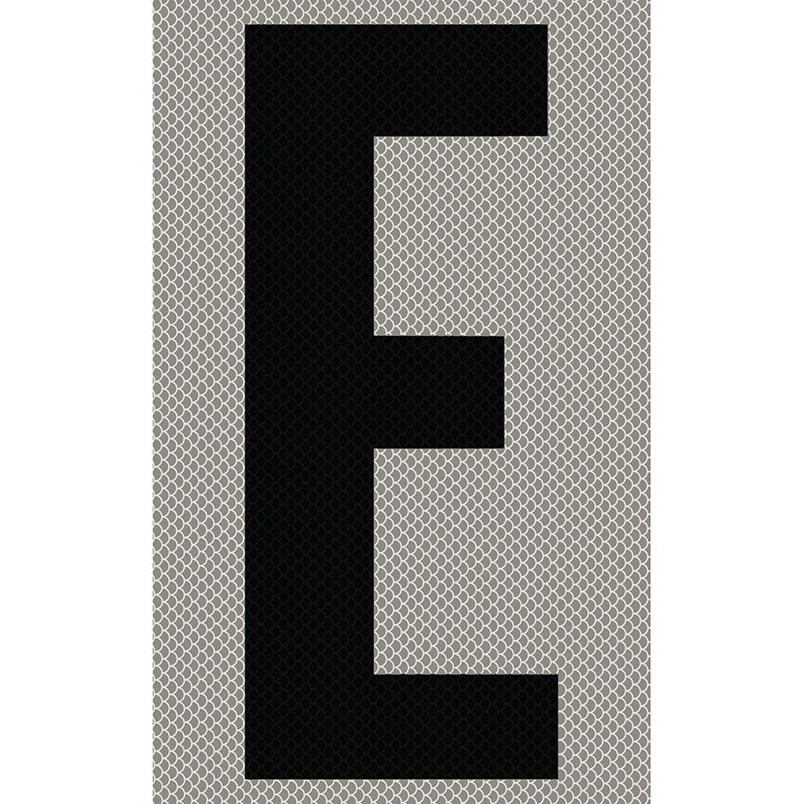 "3"" Black on Silver High Intensity Reflective ""E"""