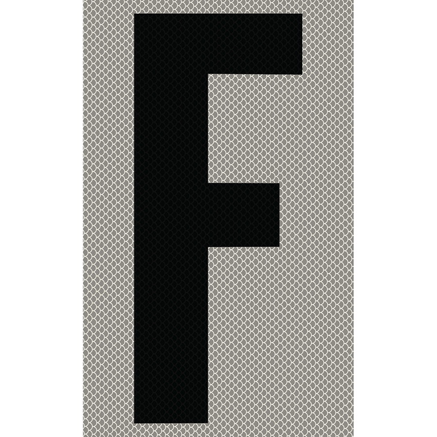 """3"""" Black on Silver High Intensity Reflective """"F"""""""