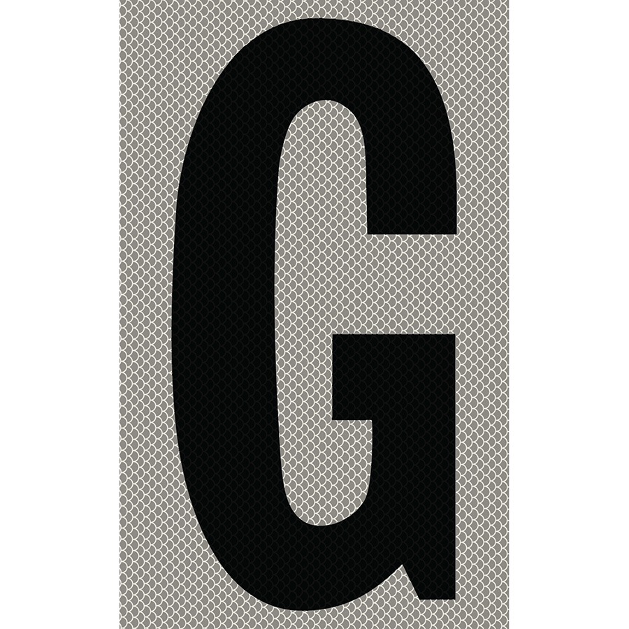 "3"" Black on Silver High Intensity Reflective ""G"""