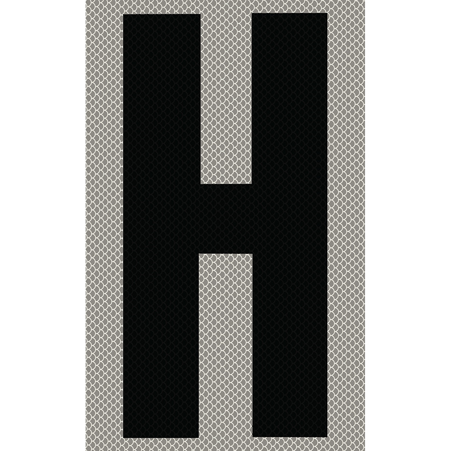 "3"" Black on Silver High Intensity Reflective ""H"""