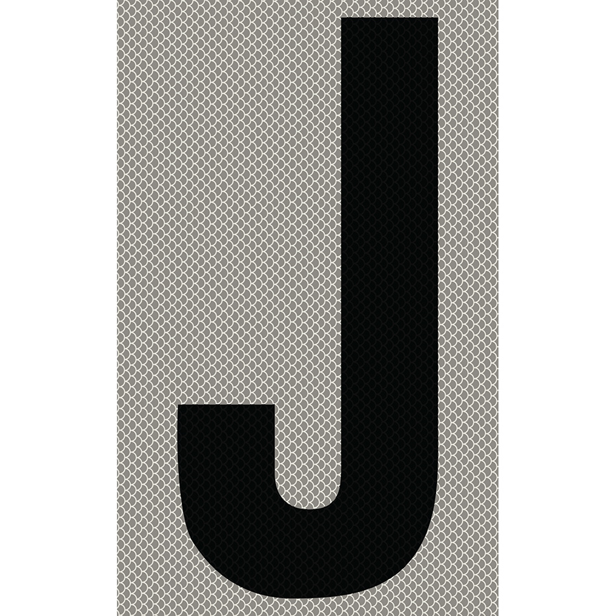 "3"" Black on Silver High Intensity Reflective ""J"""