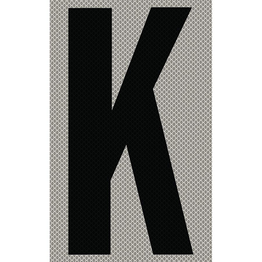 "3"" Black on Silver High Intensity Reflective ""K"""
