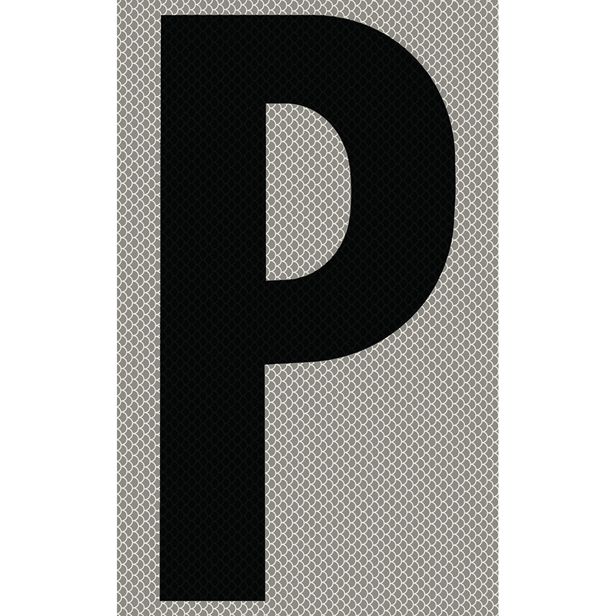 "3"" Black on Silver High Intensity Reflective ""P"""