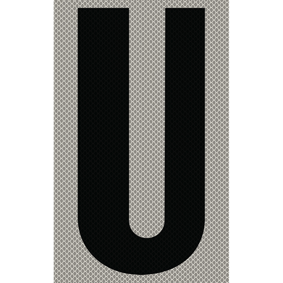 "3"" Black on Silver High Intensity Reflective ""U"""