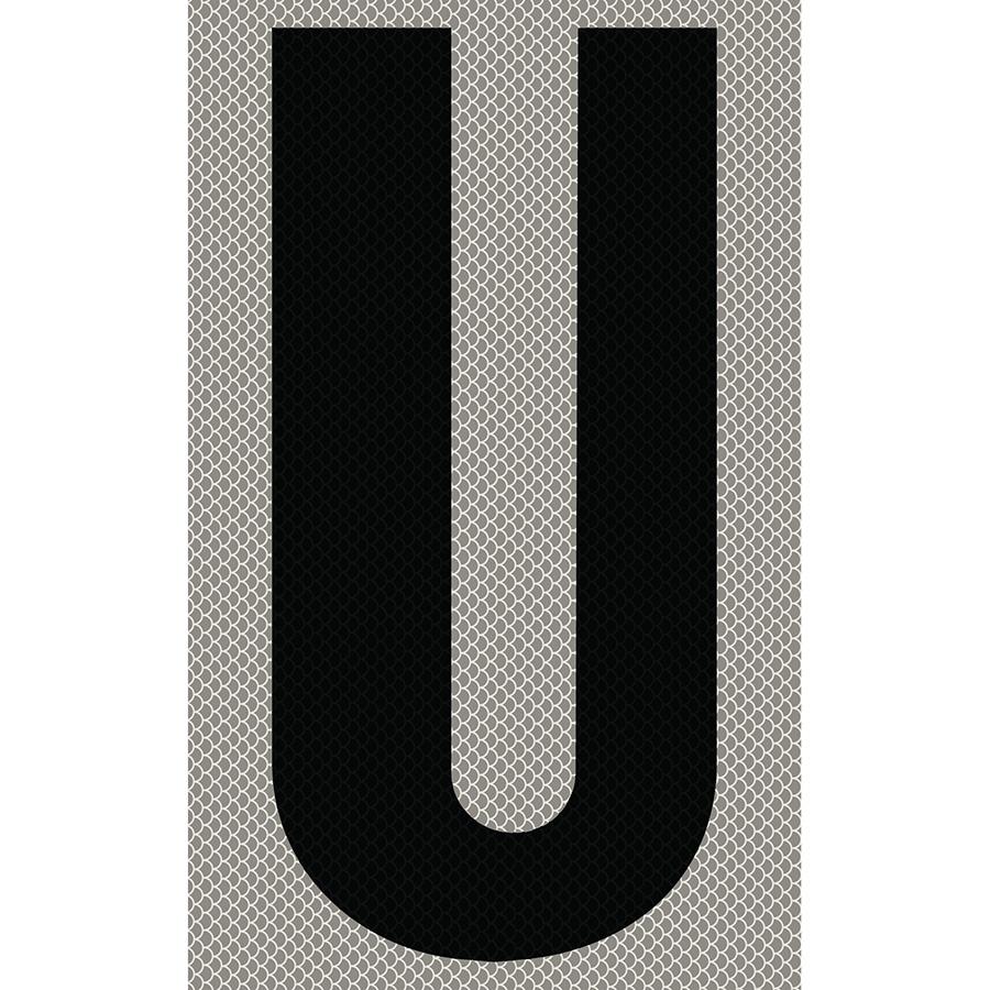 "3"" Black on Silver High Intensity Reflective ""U"""