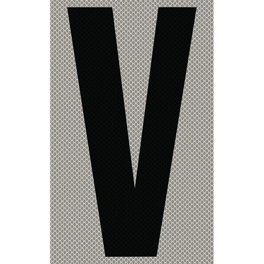 "3"" Black on Silver High Intensity Reflective ""V"""