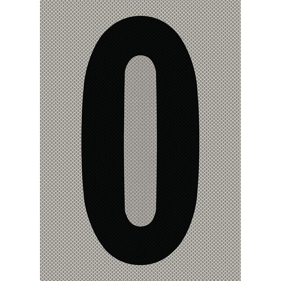 "6"" Black on Silver High Intensity Reflective ""0"""