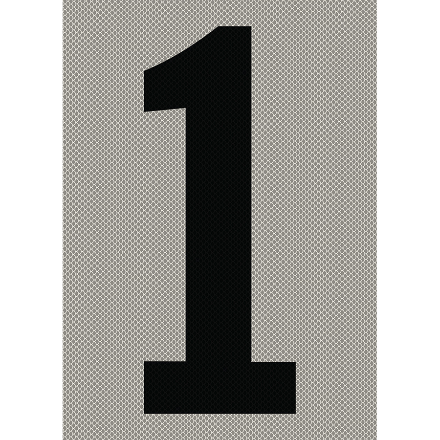 "6"" Black on Silver High Intensity Reflective ""1"""