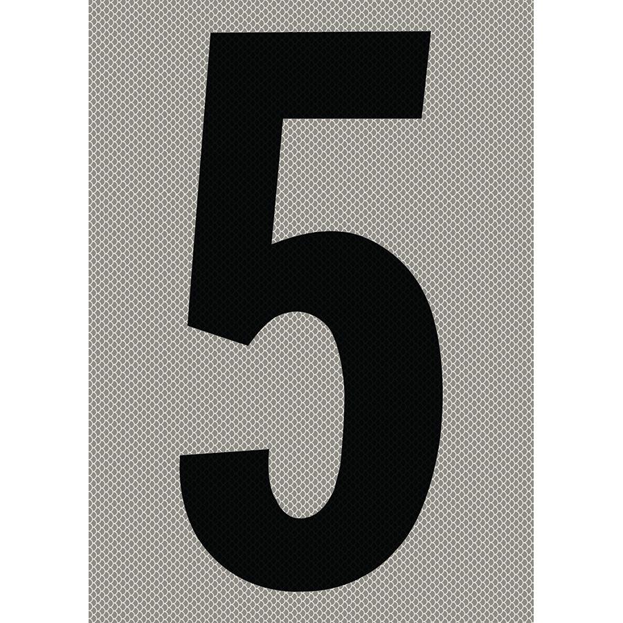 "6"" Black on Silver High Intensity Reflective ""5"""