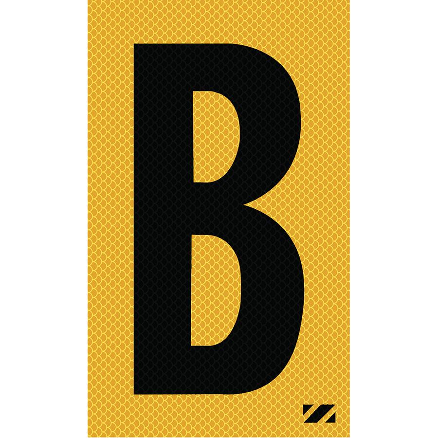 "2"" Black on Yellow High Intensity Reflective ""B"""