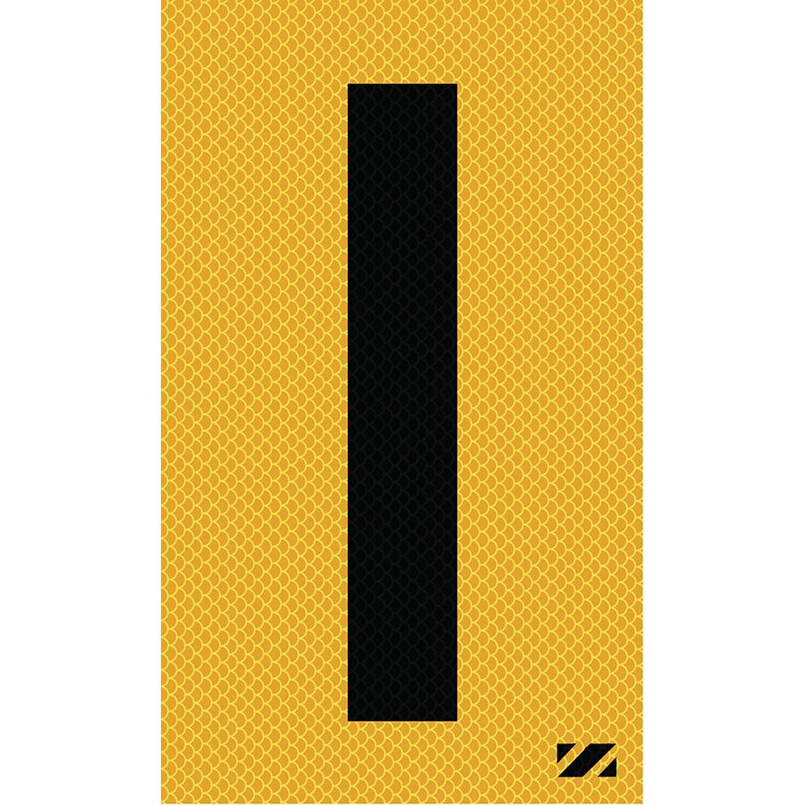 "2"" Black on Yellow High Intensity Reflective ""I"""