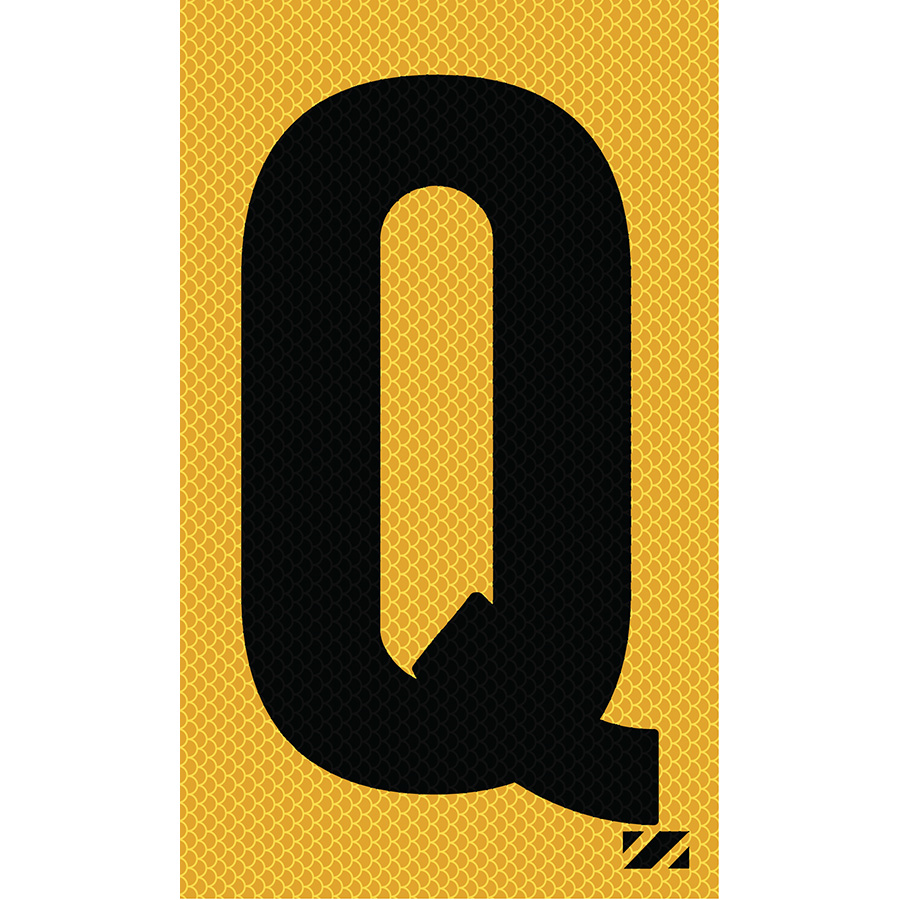 "2"" Black on Yellow High Intensity Reflective ""Q"""