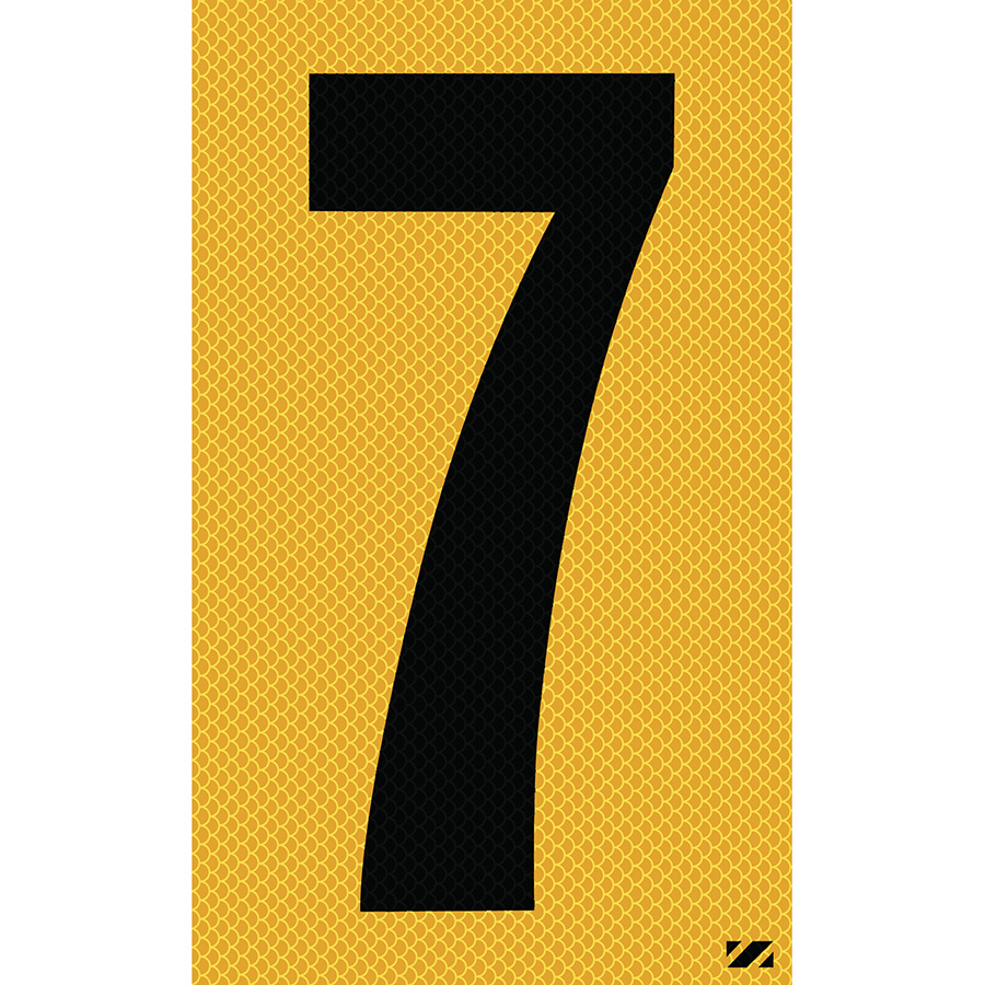 "2.5"" Black on Yellow High Intensity Reflective ""7"""
