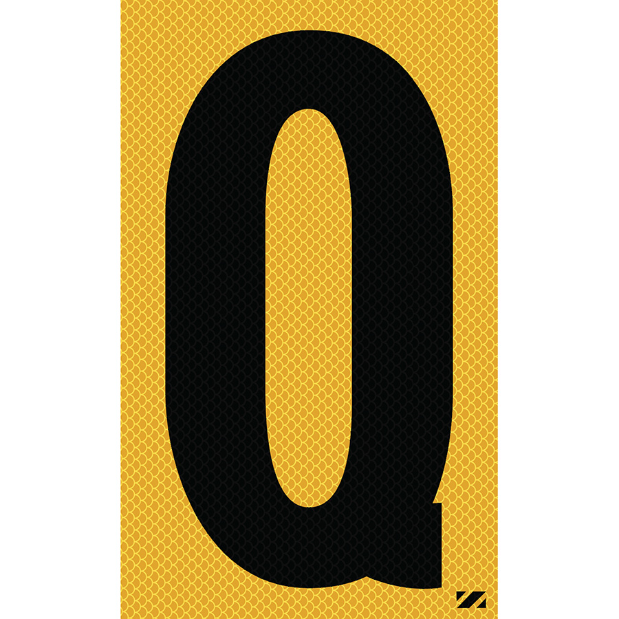 "2.5"" Black on Yellow High Intensity Reflective ""Q"""