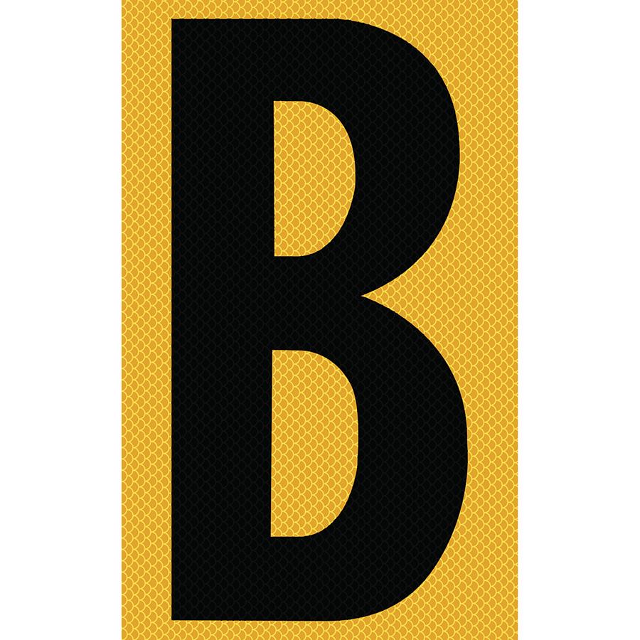 "3"" Black on Yellow High Intensity Reflective ""B"""