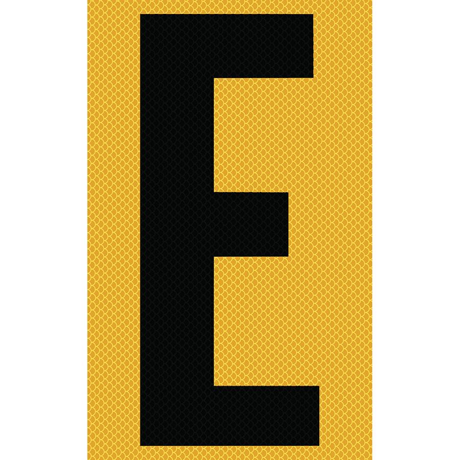 "3"" Black on Yellow High Intensity Reflective ""E"""