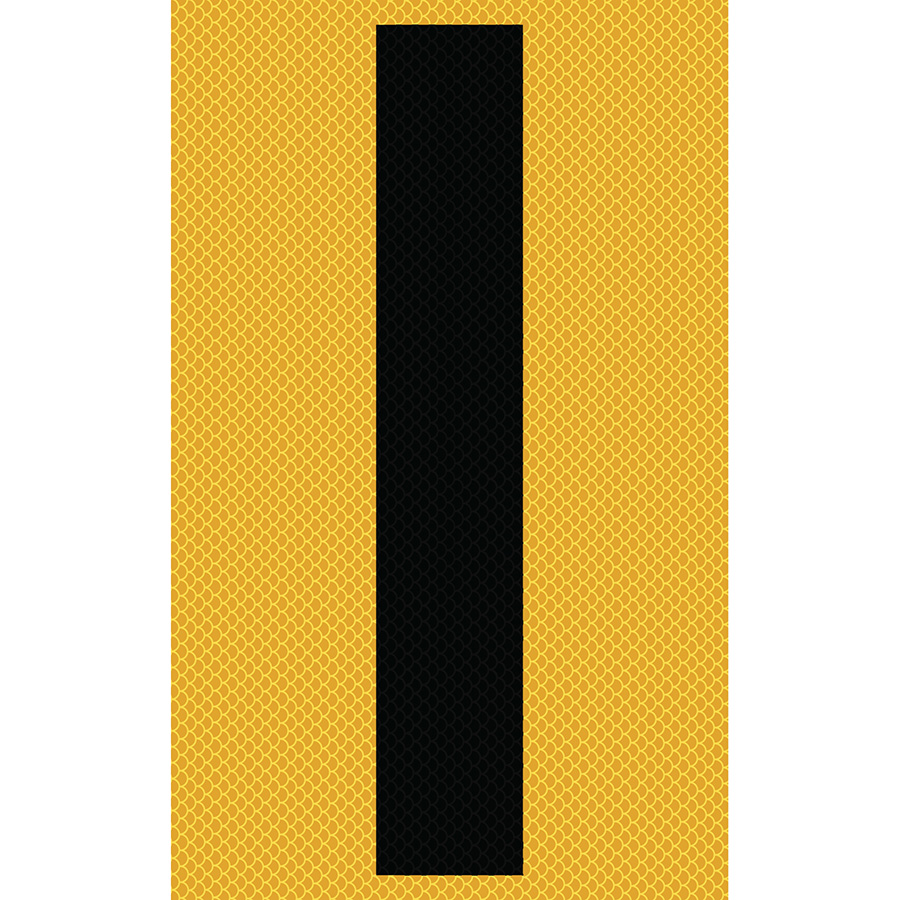"3"" Black on Yellow High Intensity Reflective ""I"""