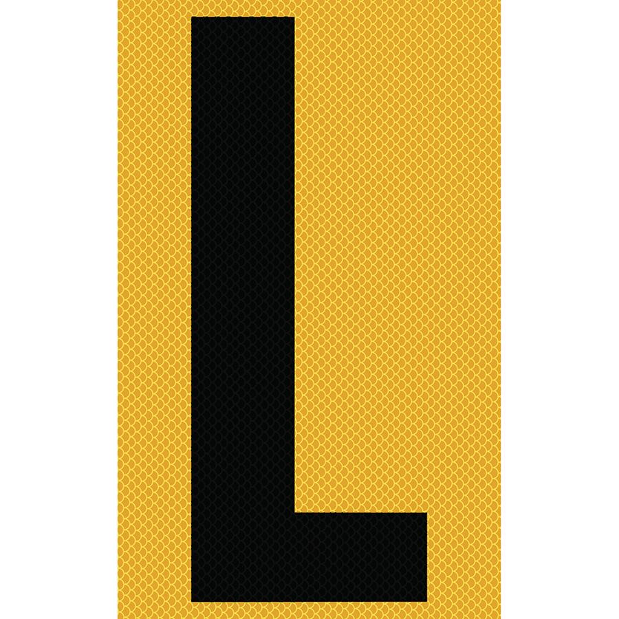 "3"" Black on Yellow High Intensity Reflective ""L"""