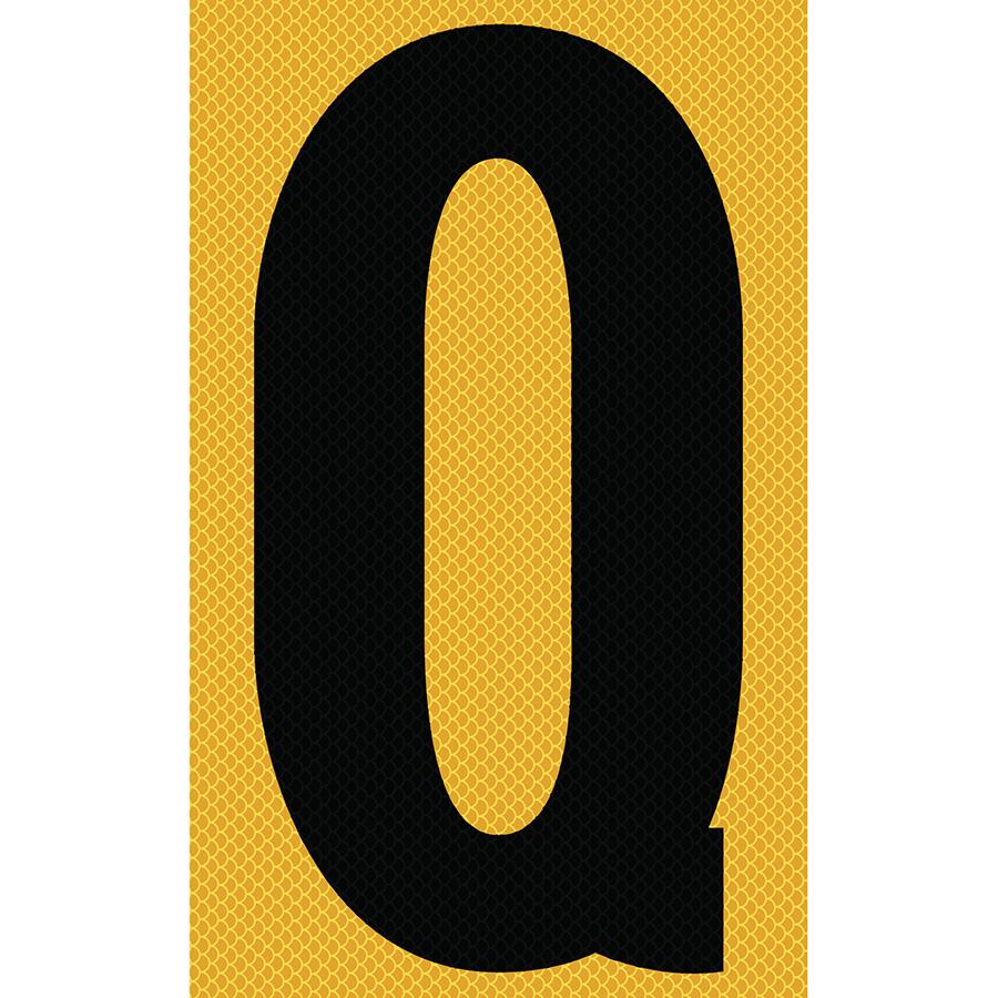 "3"" Black on Yellow High Intensity Reflective ""Q"""
