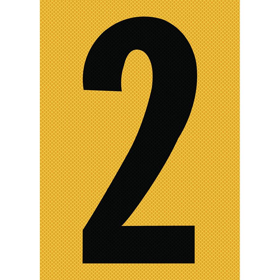 "6"" Black on Yellow High Intensity Reflective ""2"""