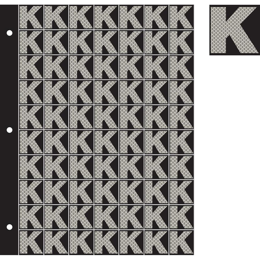 "1"" Silver on Black High Intensity Reflective ""K"""