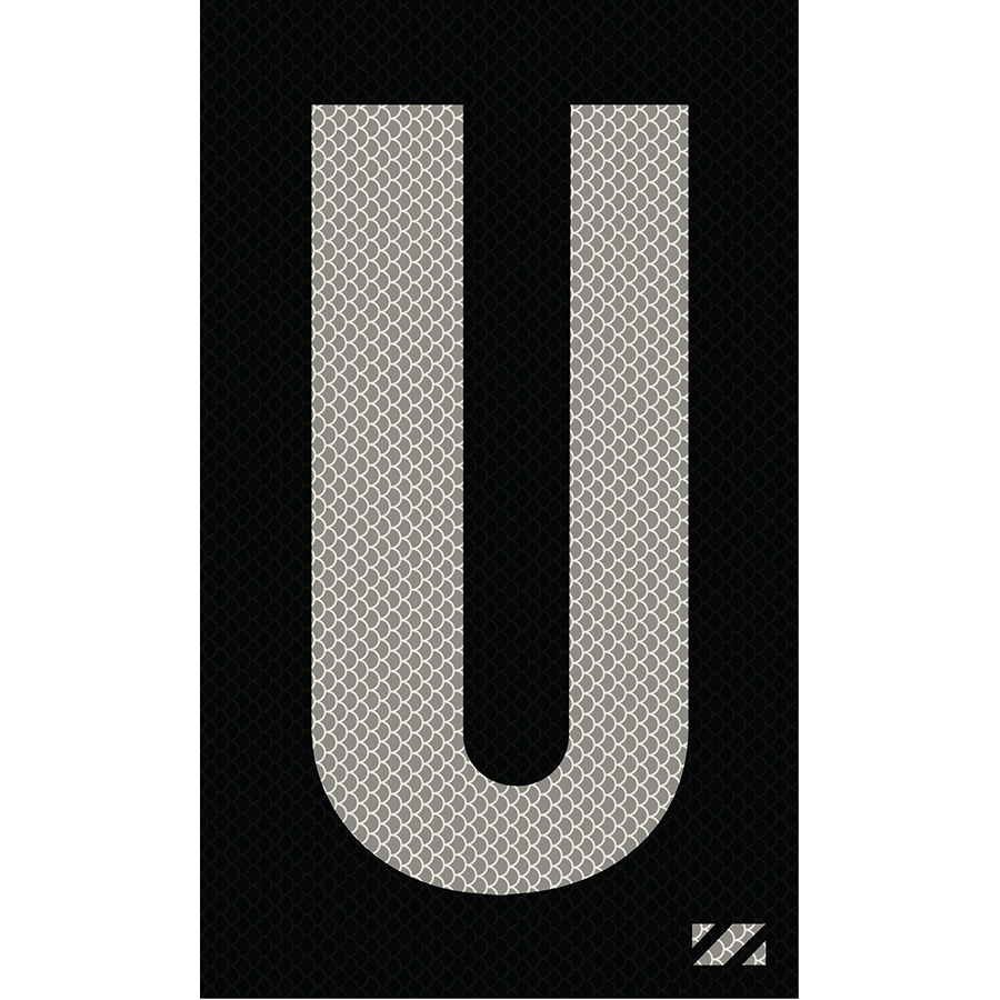 "2"" Silver on Black High Intensity Reflective ""U"""