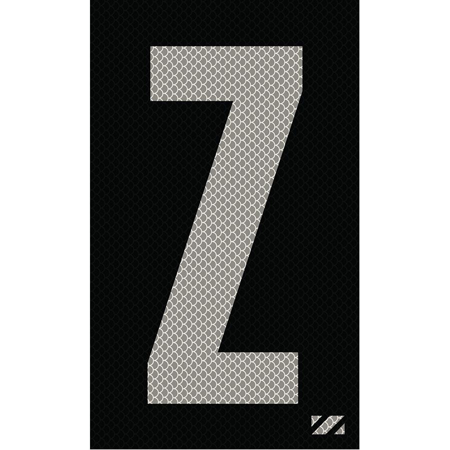"""2"""" Silver on Black High Intensity Reflective """"Z"""""""
