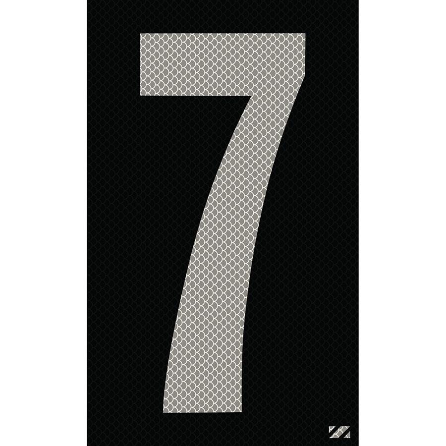"2.5"" Silver on Black High Intensity Reflective ""7"""