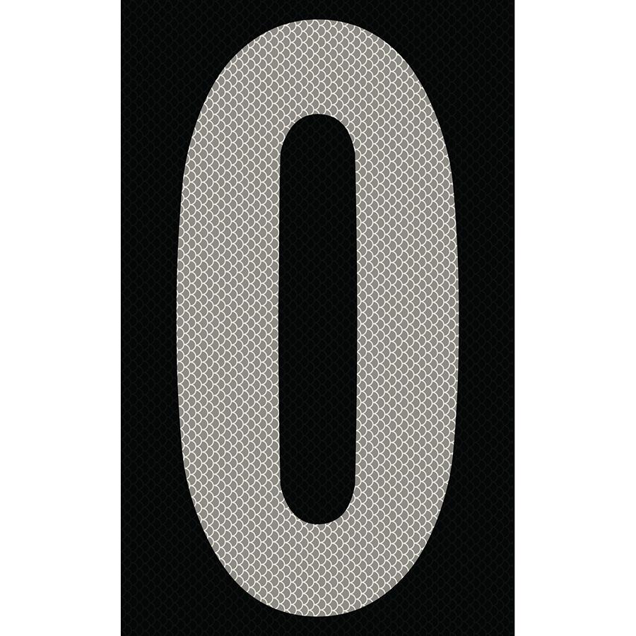 "3"" Silver on Black High Intensity Reflective ""0"""