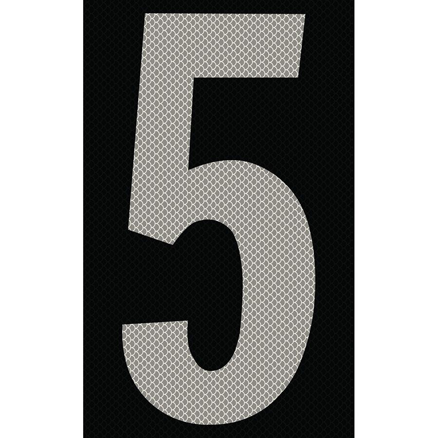 "3"" Silver on Black High Intensity Reflective ""5"""