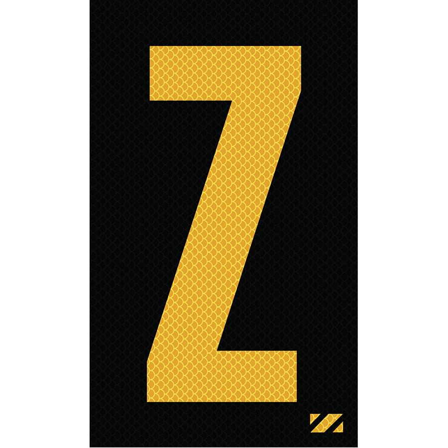 "2"" Yellow on Black High Intensity Reflective ""Z"""