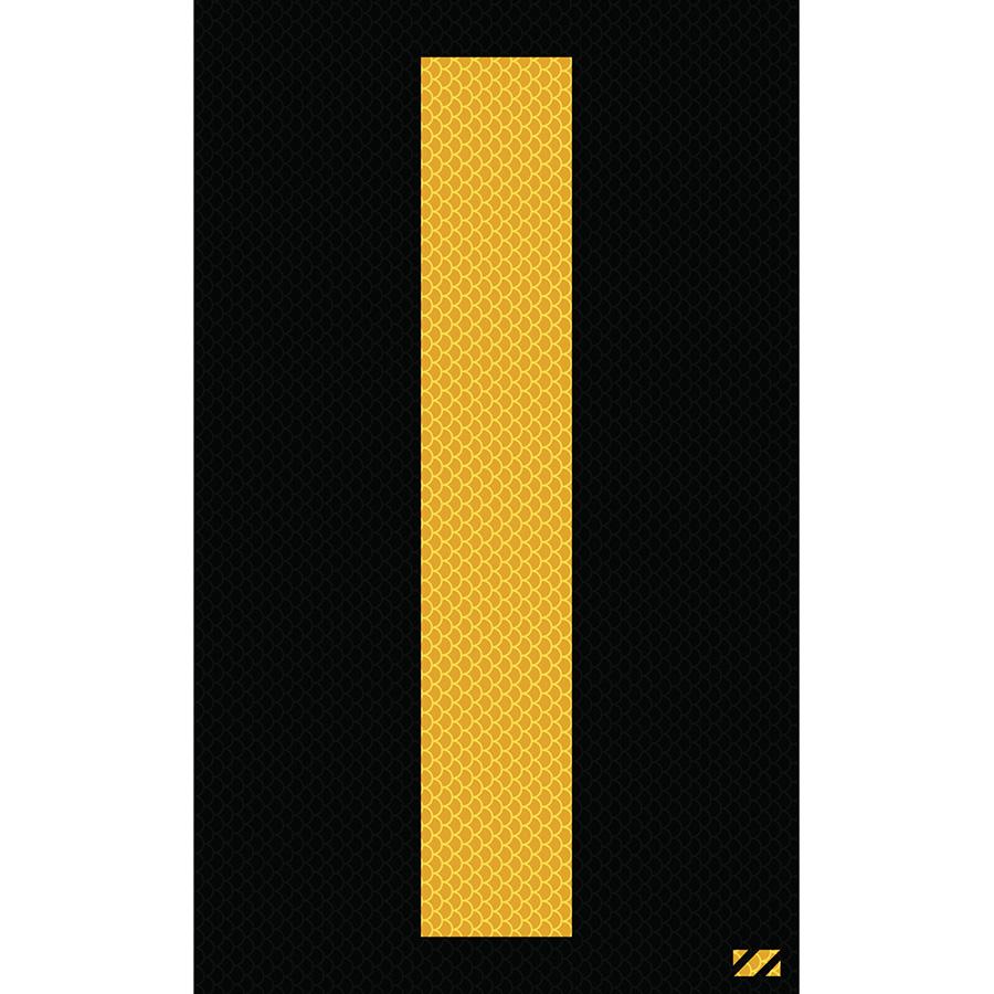 "2.5"" Yellow on Black High Intensity Reflective ""I"""