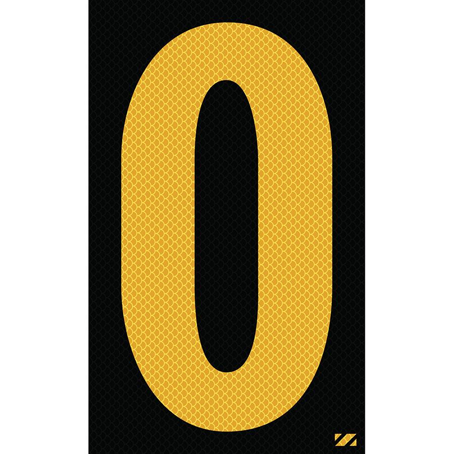 "2.5"" Yellow on Black High Intensity Reflective ""O"""