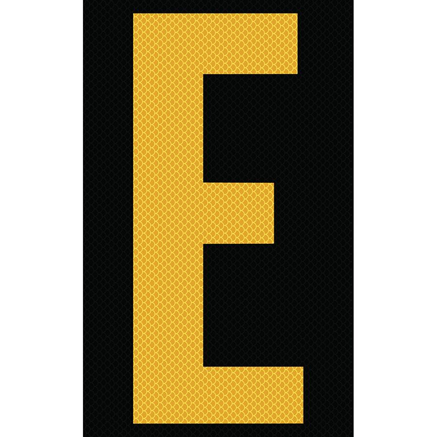 "3"" Yellow on Black High Intensity Reflective ""E"""