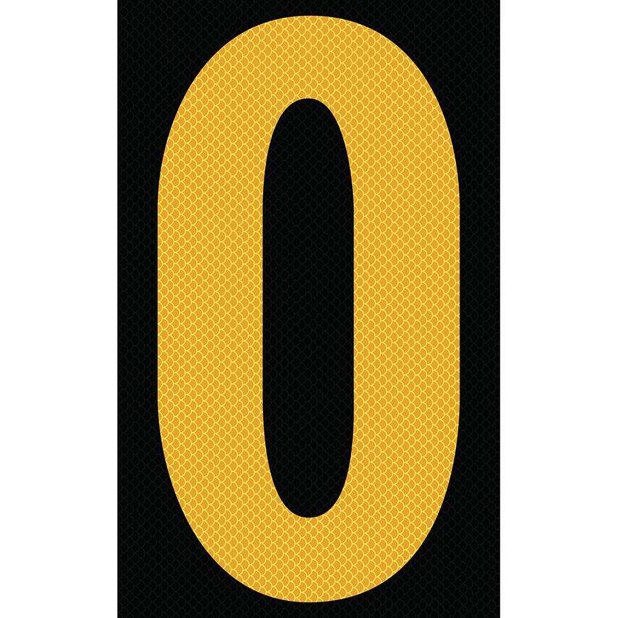 "3"" Yellow on Black High Intensity Reflective ""O"""