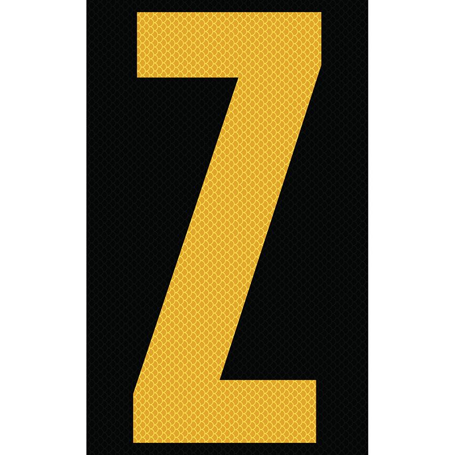 "3"" Yellow on Black High Intensity Reflective ""Z"""