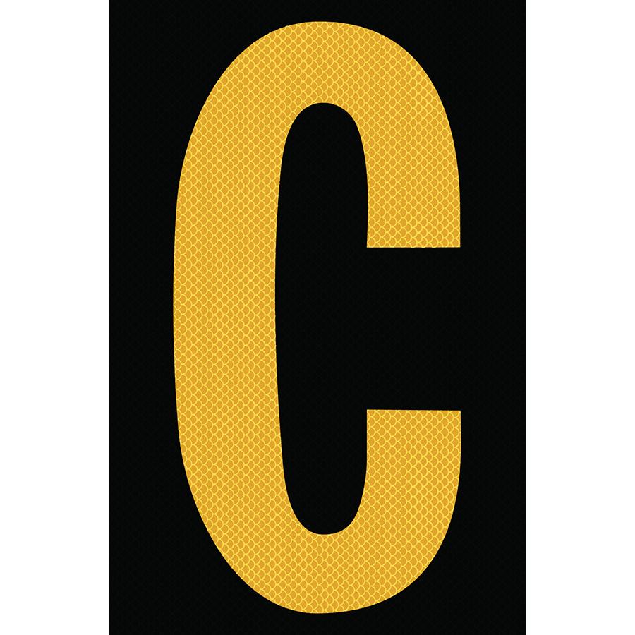 "4"" Yellow on Black High Intensity Reflective ""C"""
