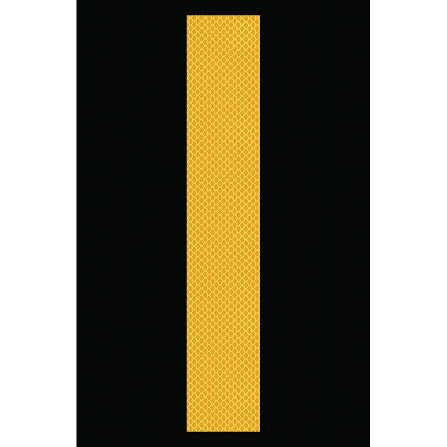 "4"" Yellow on Black High Intensity Reflective ""I"""