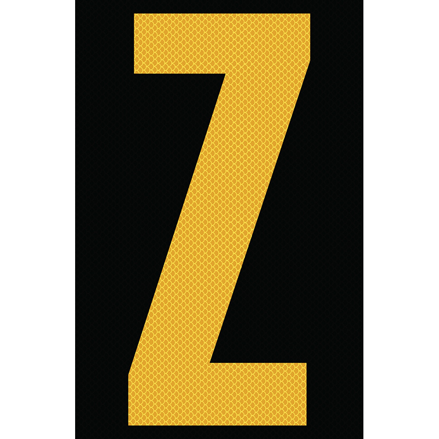 "4"" Yellow on Black High Intensity Reflective ""Z"""