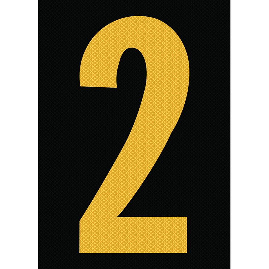"6"" Yellow on Black High Intensity Reflective ""2"""