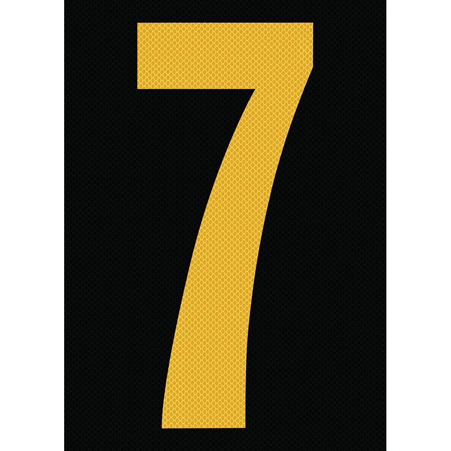 "6"" Yellow on Black High Intensity Reflective ""7"""