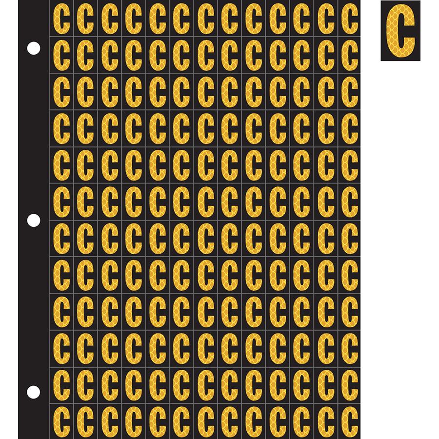 "0.78"" Yellow on Black High Intensity Reflective ""C"""