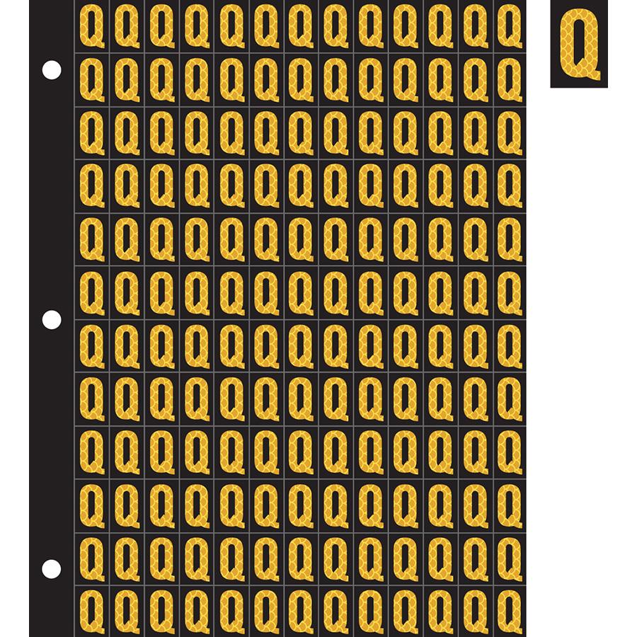 "0.78"" Yellow on Black High Intensity Reflective ""Q"""