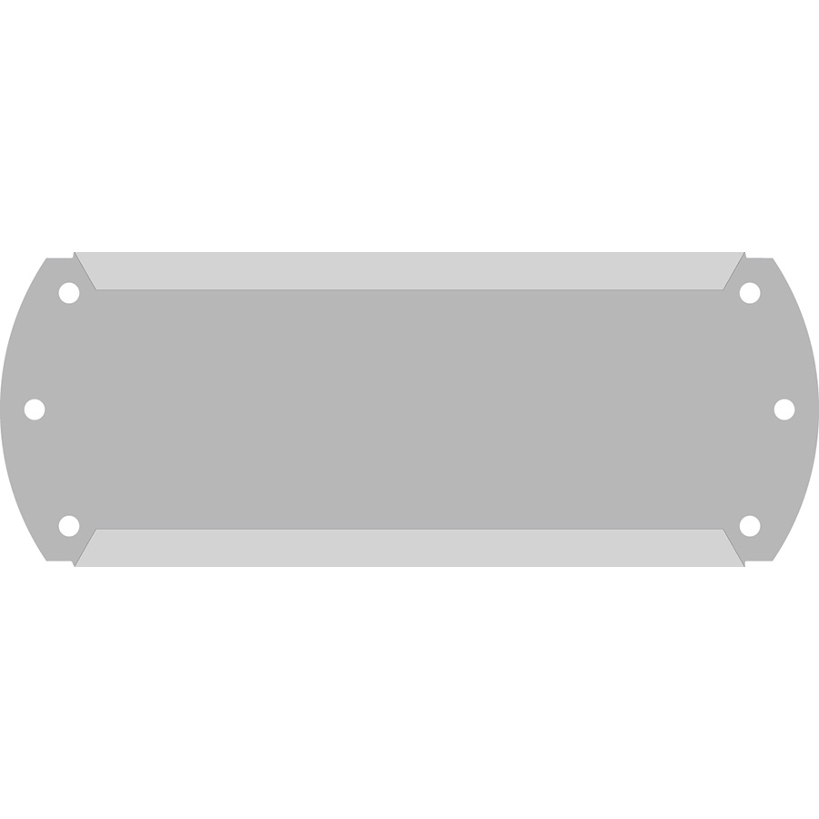 "1""  Horizontal  Character Aluminum Holder - Fits 4 Characters"