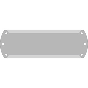 "1"" Horizontal Character Aluminum Holder - Fits 5 Characters"