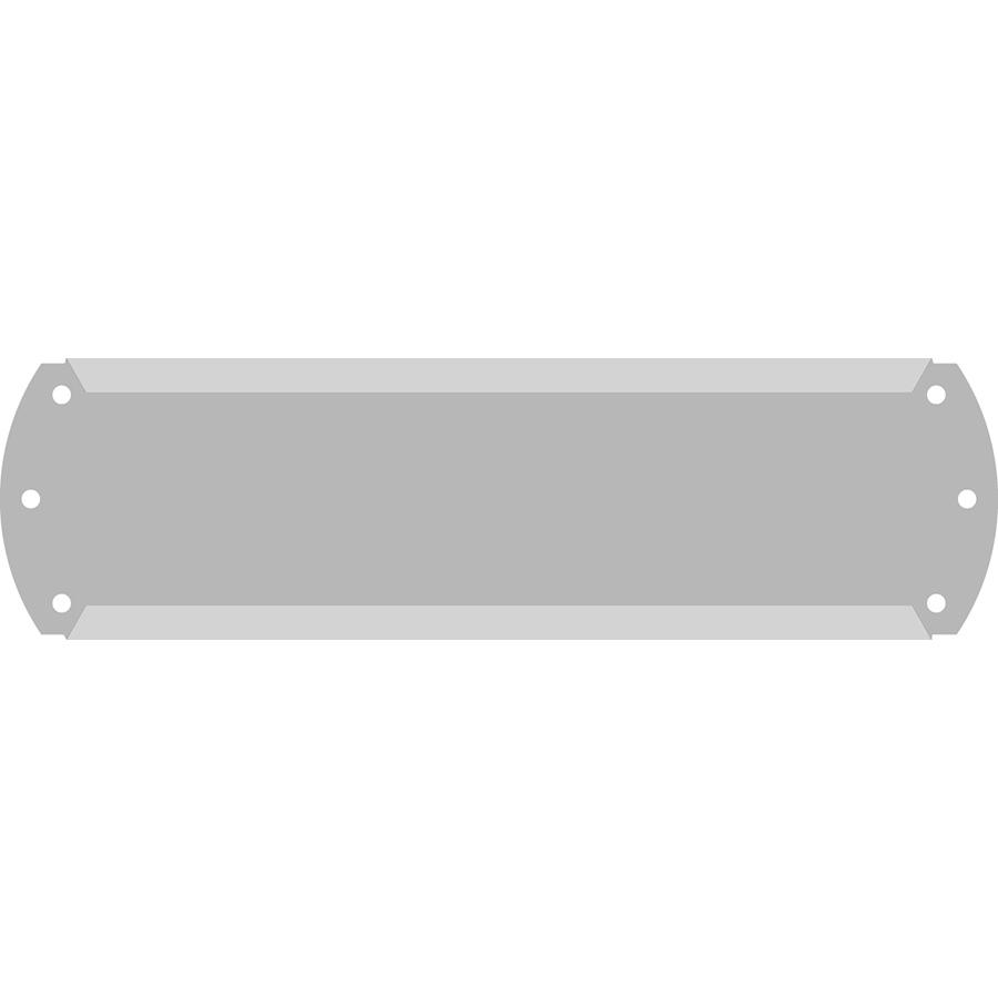 "1"" Horizontal Character  Aluminum Holder - Fits 6 Characters"