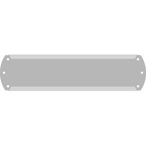 "1"" Horizontal Character Aluminum Holder - Fits 7 Characters"