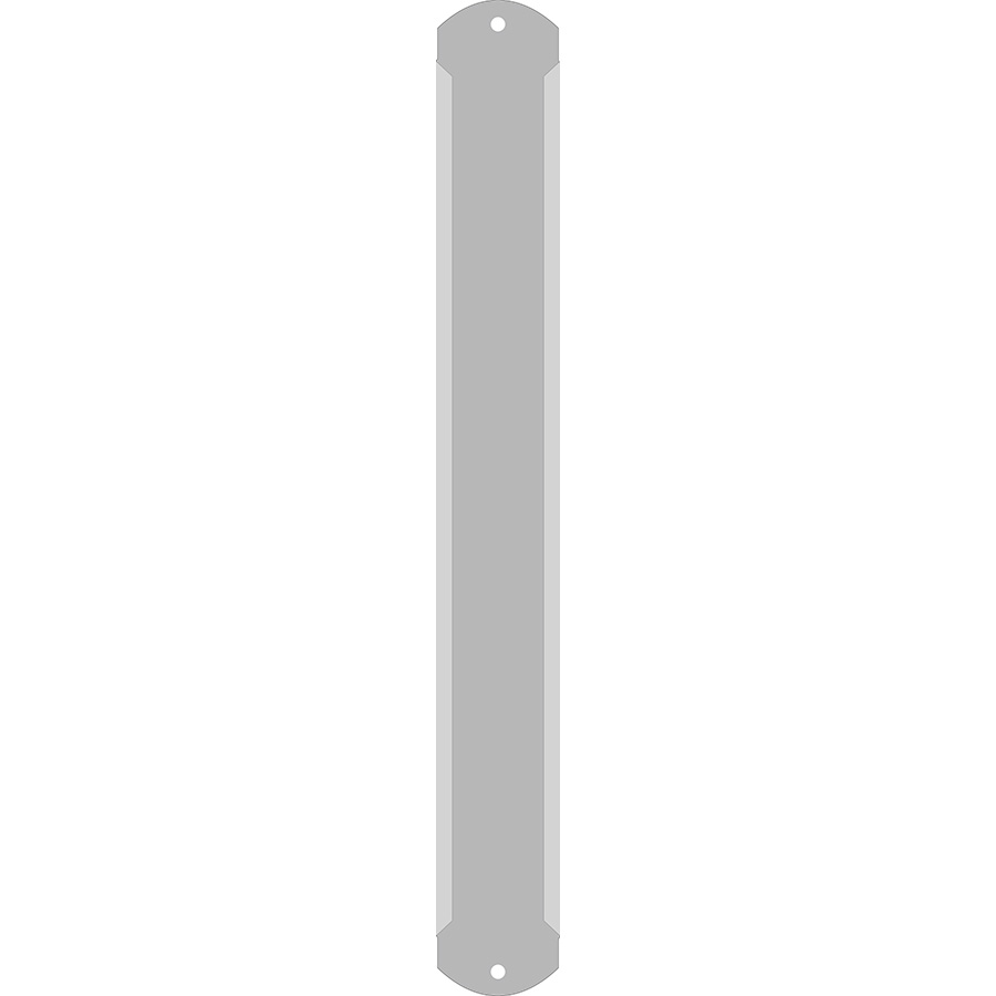 "1"" Vertical Character Aluminum Holder - Fits 4 Characters"