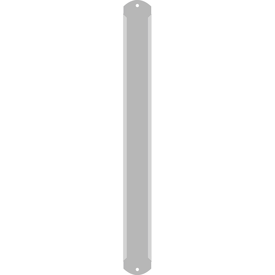 "1"" Vertical Character Aluminum Holder - Fits 5 Characters"